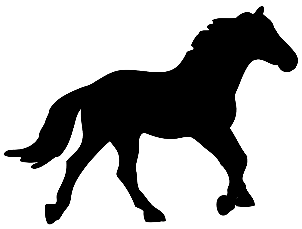 Running horse silhouette png. And horseman standing