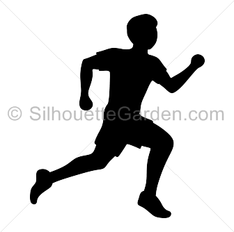 Running man silhouette png.