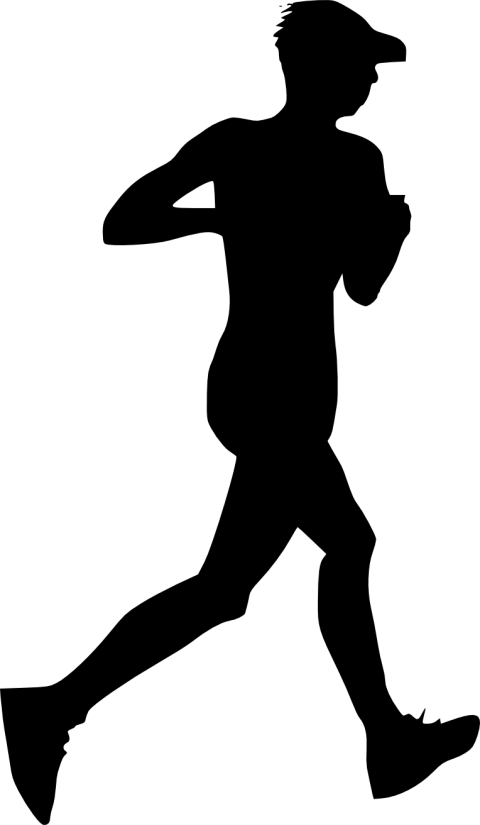 Running man silhouette png. Free images toppng transparent