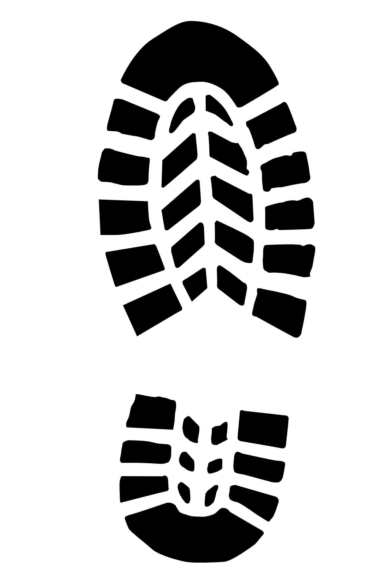 Running shoe print png. Boot prints camping party