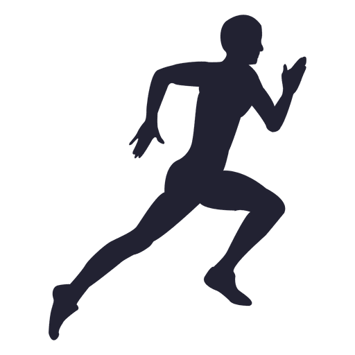 Running silhouette png. Man transparent svg vector