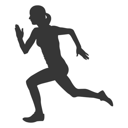 Running silhouette png. Woman transparent svg vector