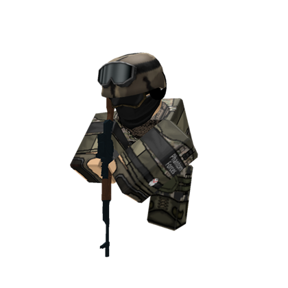 Transparent soldier roblox. Running pose w ak