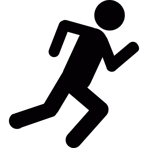 Stick figure going up the stairs png. Man running group free