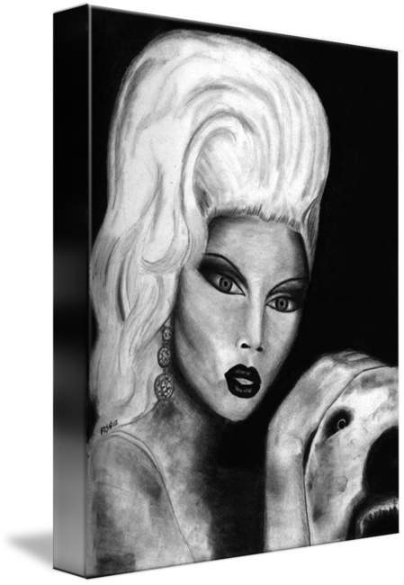 Rupaul drawing pencil. By fallon stone