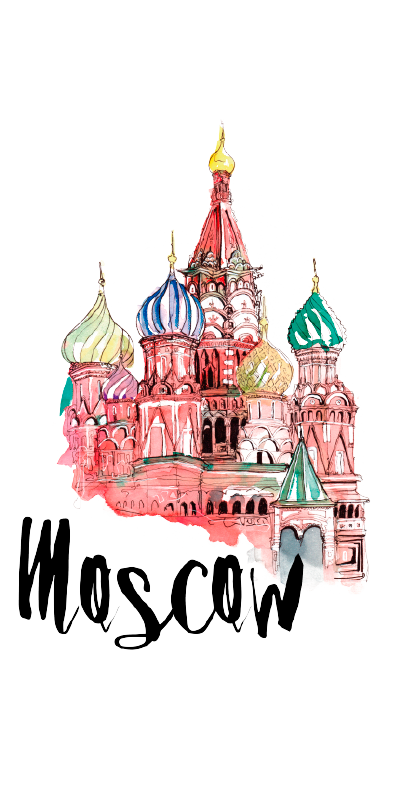 Russia drawing building russian. Moscow i went to