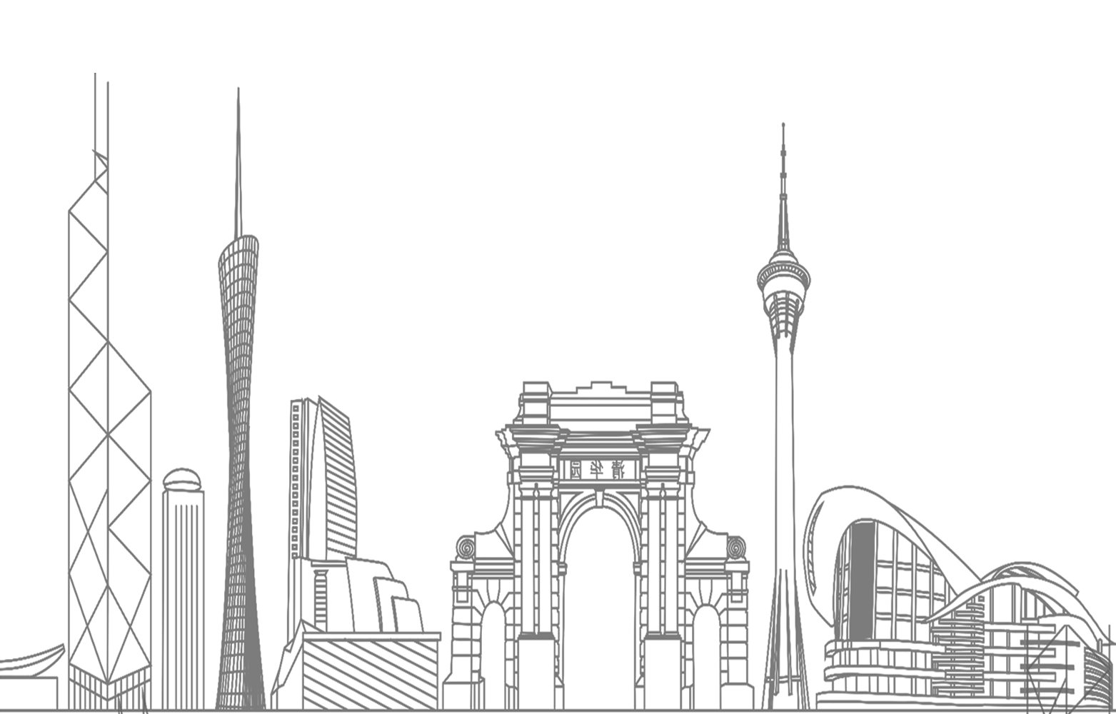 Russia drawing city. Black and white place