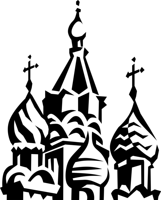 Russia vector. St basil s cathedral