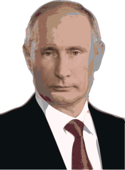Russia drawing person. Line art politics portrait