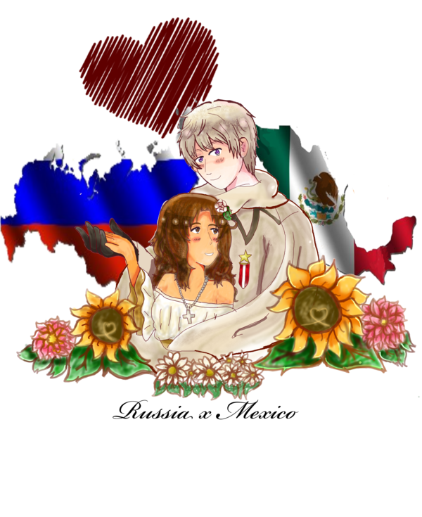 Russia drawing usa. Aph x mexico by