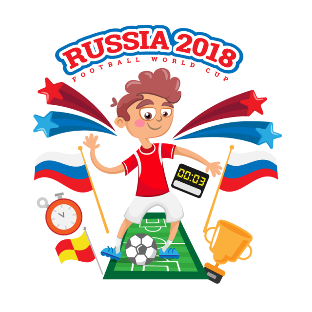 Russia vector. World cup soccer player