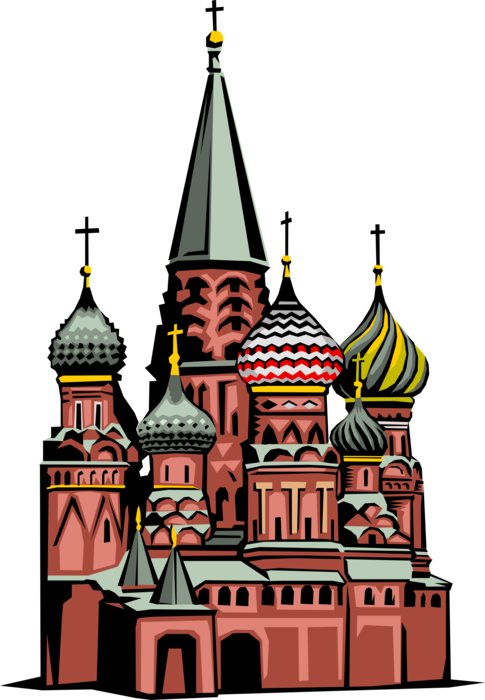 Russia vector church russian. St basil s cathedral