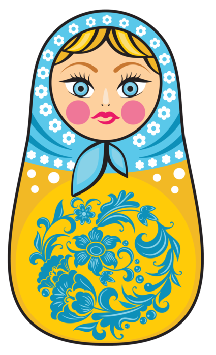 Russia vector doll russian. For my handicrafts printable
