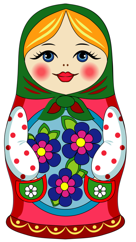 Russia vector doll russian. Png art nesting