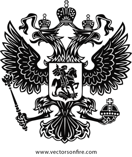 Russia vector drawing. Free the coat of