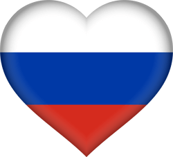 Russia vector heart. Flag country flags russian