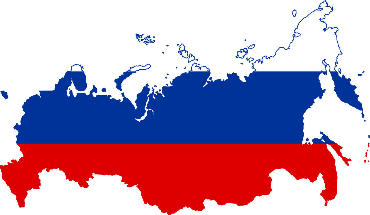 Russia vector map. File flag of svg