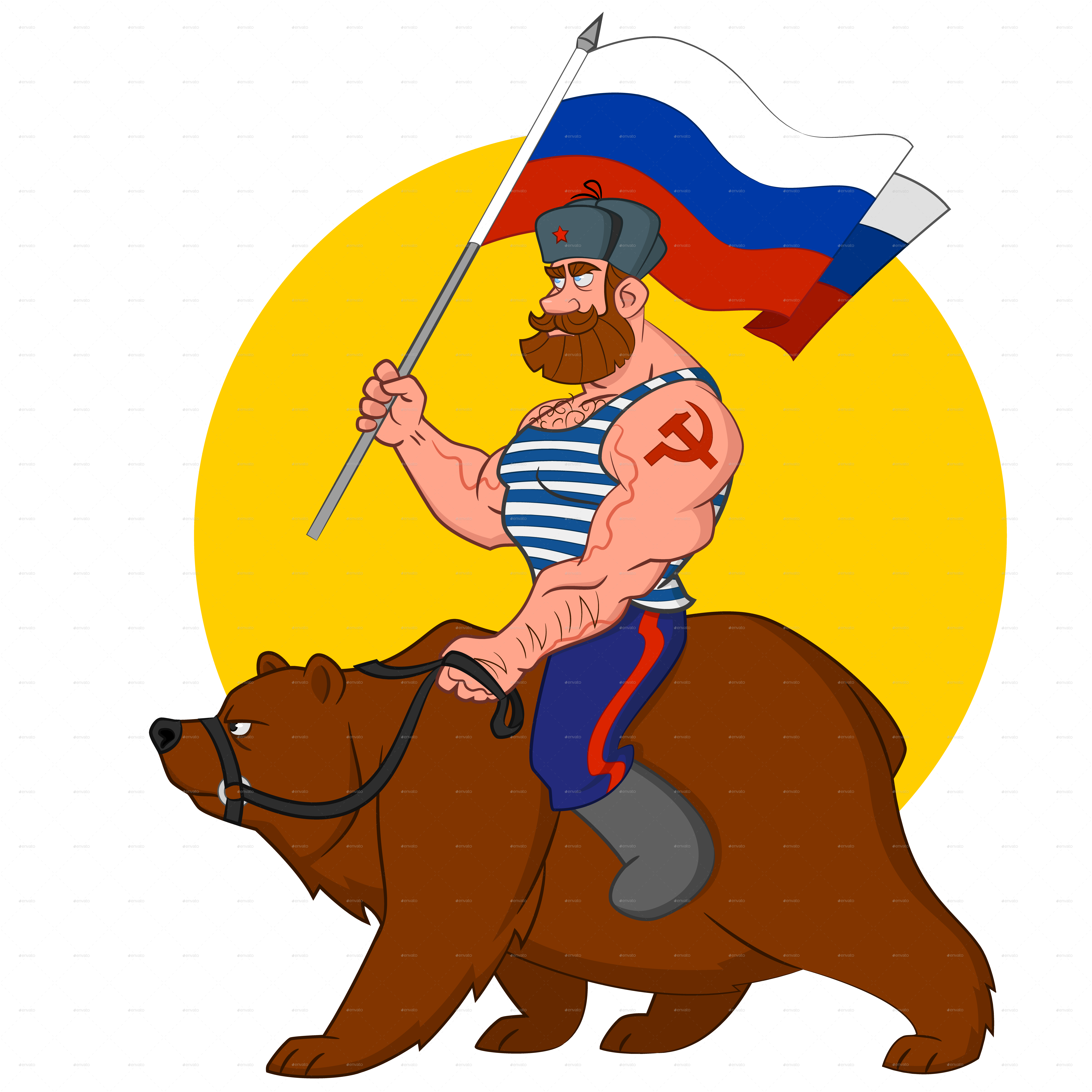 Russian bear png. Riding a by gatts
