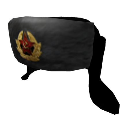 Transparent russian hat. Ushanka published roblox