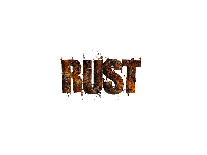 Rust game logo png. My concept general