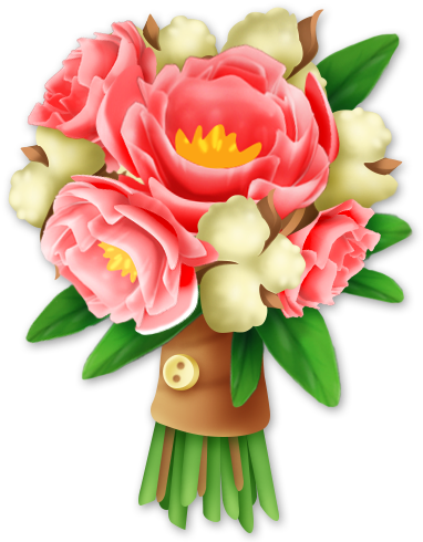 Rustic bouquet png. Hay day flower shop