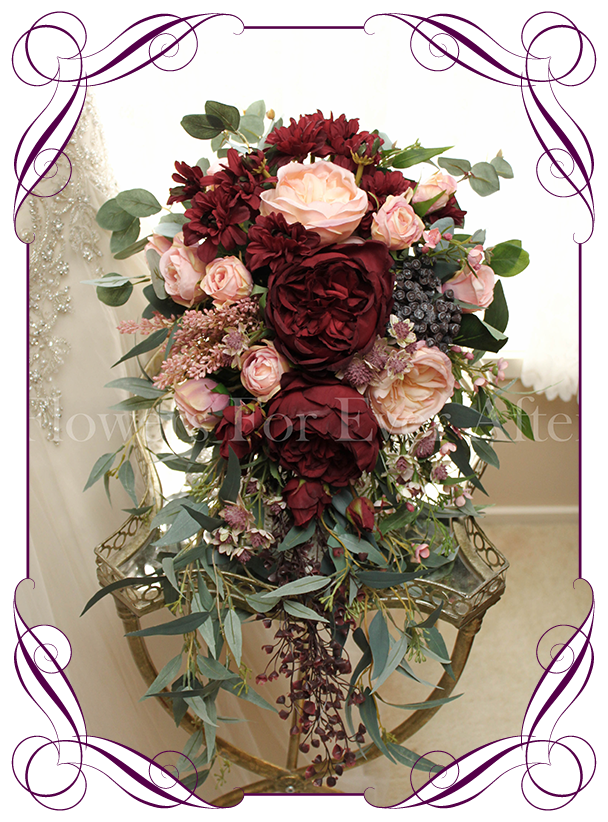 Rustic bouquet png. Silk artificial cascading showering