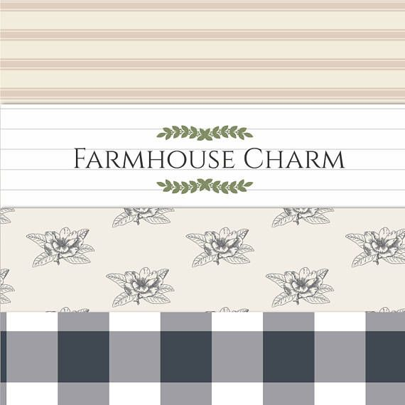 Rustic clipart farmhouse. Png digital paper and