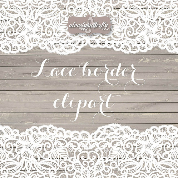 Rustic clipart lace. Wedding border shabby chic