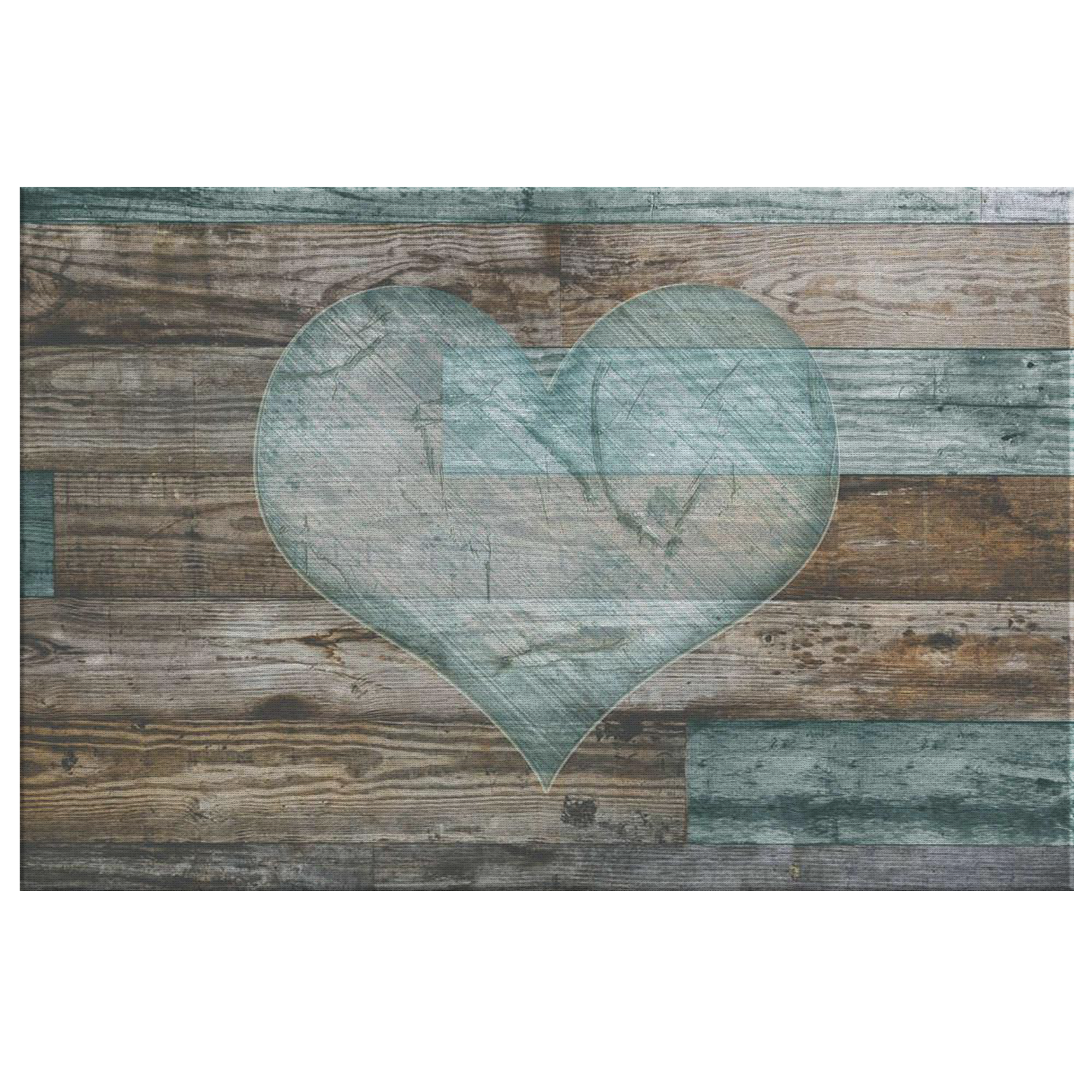 Rustic heart premium canvas
