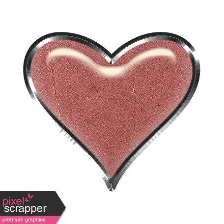 Rustic heart png. Charm pink graphic by