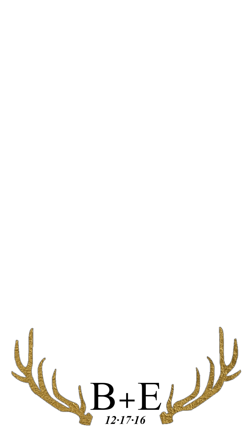 Southern Wedding Snapchat filter with Antlers