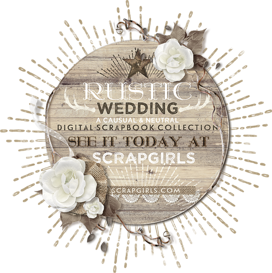 Rustic wedding png. Scrapbooks from the heart