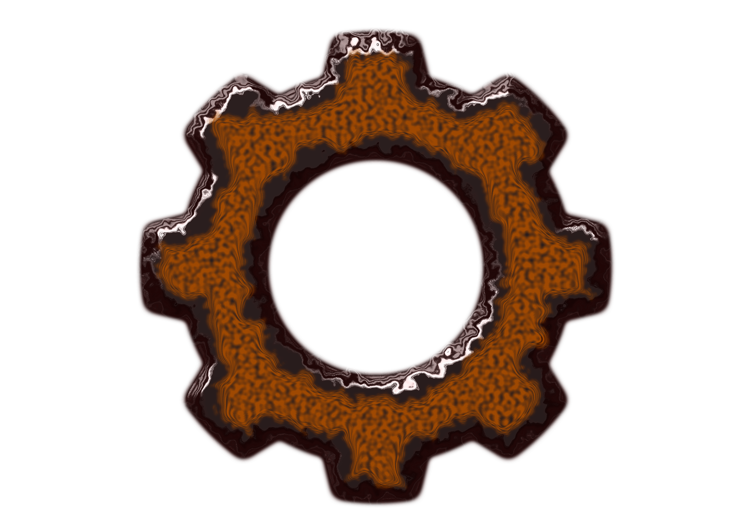 Rusty gears png. Clipart rusted gear big