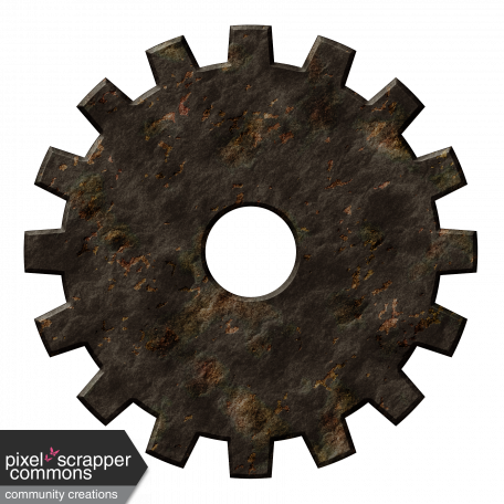 Rusty gears png. Steampunk gear graphic by