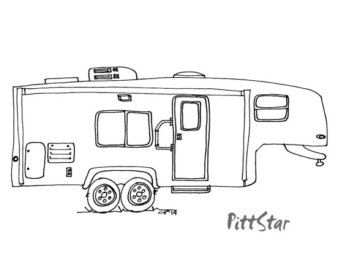 Rv clipart fifth wheel. Coloring pages of th