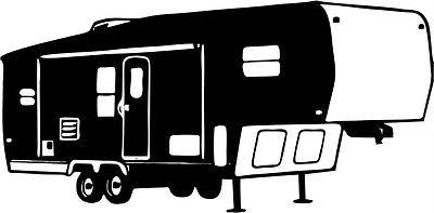 Rv clipart fifth wheel. Camping decal stickers page