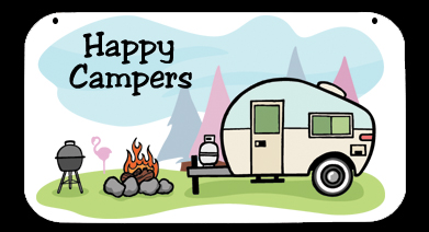 Rv clipart happy camper. Campers camping signs skurvcs