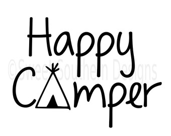 Rv clipart happy camper. Silhouette at getdrawings com