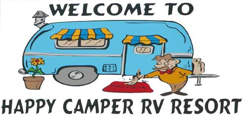 Rv clipart happy camper. Resort in rockport texas