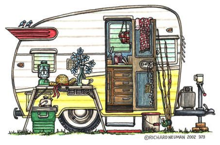 Rv clipart merry christmas. Free vintage camper clip