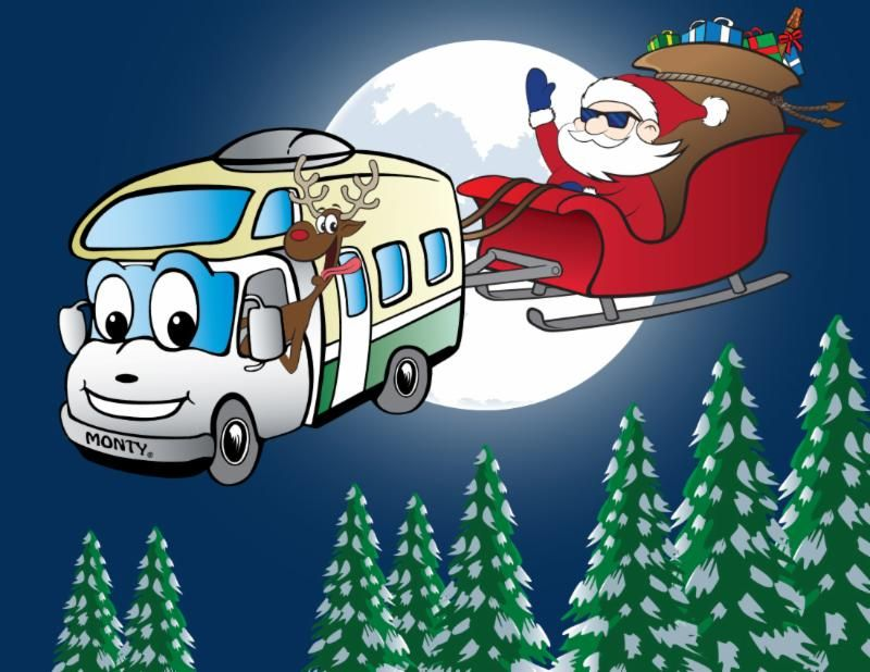 Rv clipart merry christmas. December rental special see