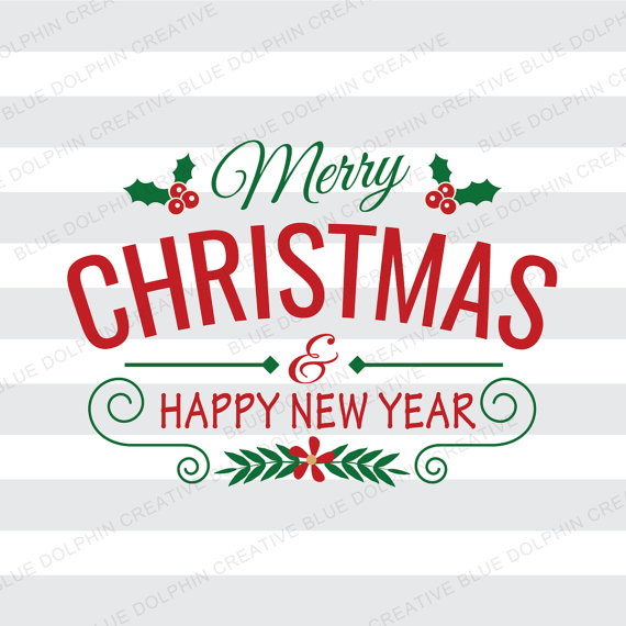Rv clipart merry christmas. Happy new year svg