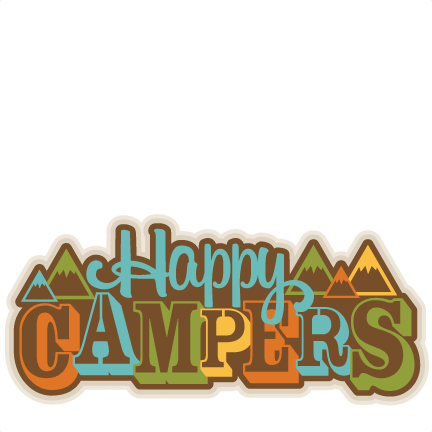 Rv clipart svg. Happy campers title scrapbook