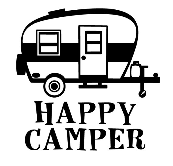 Rv clipart svg. Camper trailer with popular