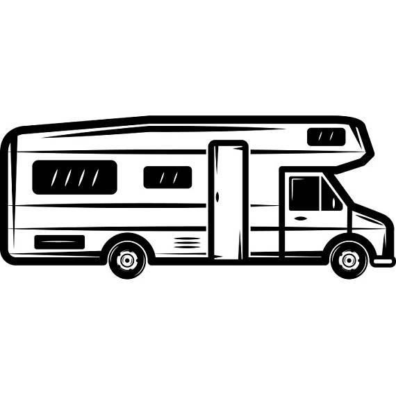 Rv clipart vacation rv. Motorhome camper recreational vehicle