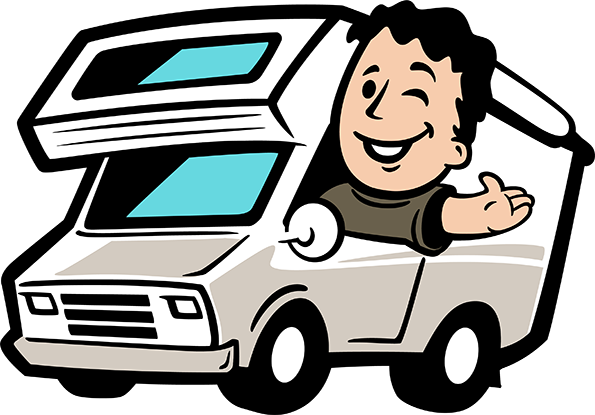 Rv clipart vacation rv. Happy campers rentals in