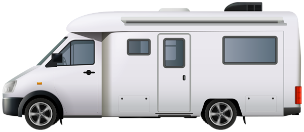 Rv clipart vacation rv. Motorhome campervan png clip