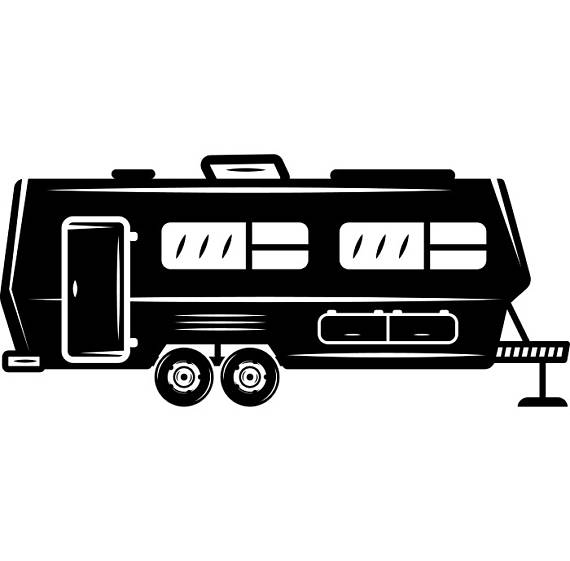Rv clipart vacation rv. Camper motorhome recreational vehicle