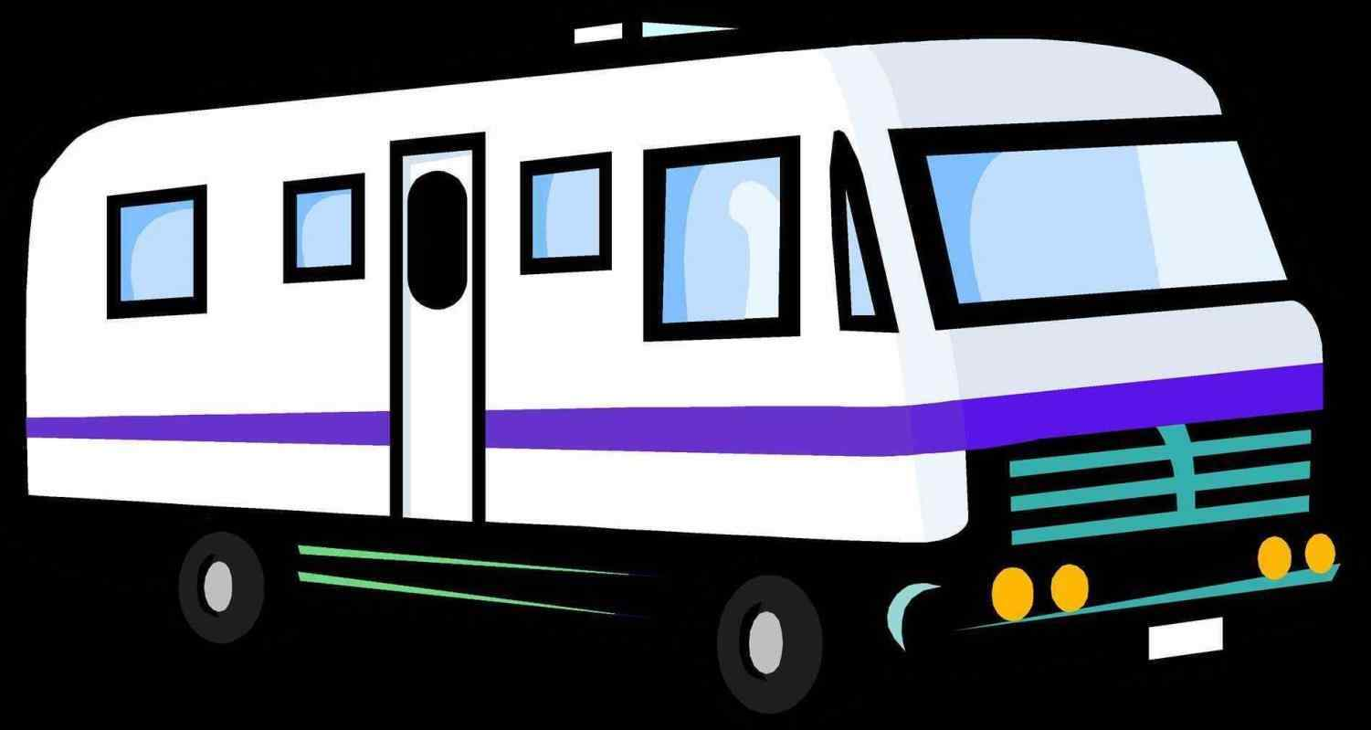 Rv clipart vacation rv. Silhouette at getdrawings com