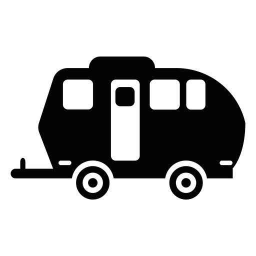 Rv svg. Travel trailer silhouette at